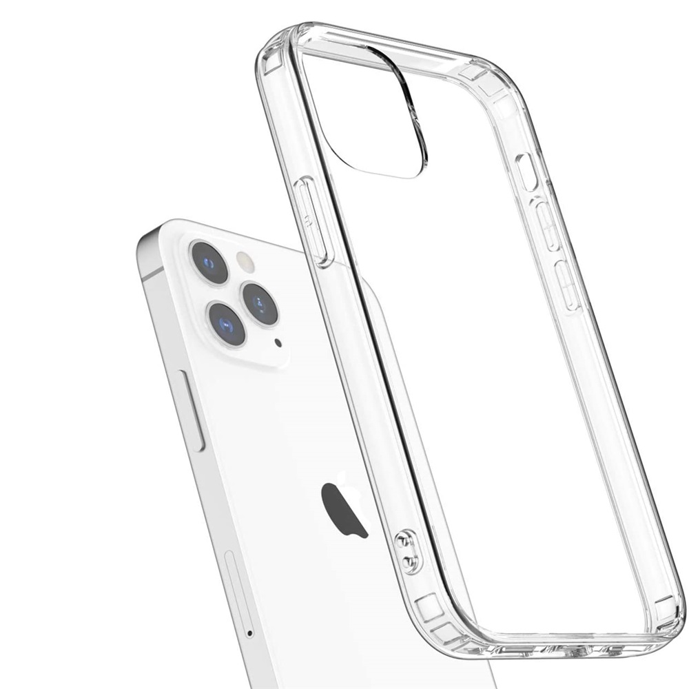 TPU Soft Shockproof Phone Case For iPhone 12 Pro Max 6.7 Inch 2pcs - Transparent