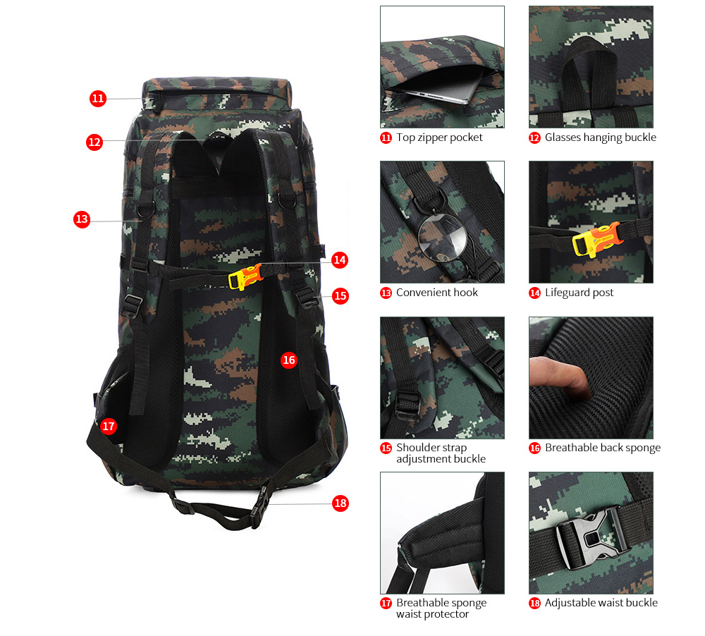 Large-capacity Outdoor Backpack details