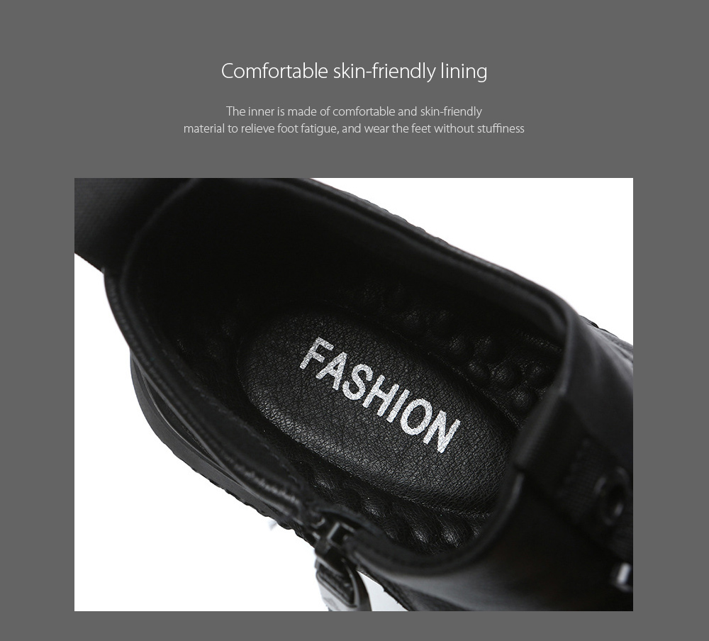 Autumn and Winter Men's All-match Leather Short Boots Comfortable skin-friendly lining