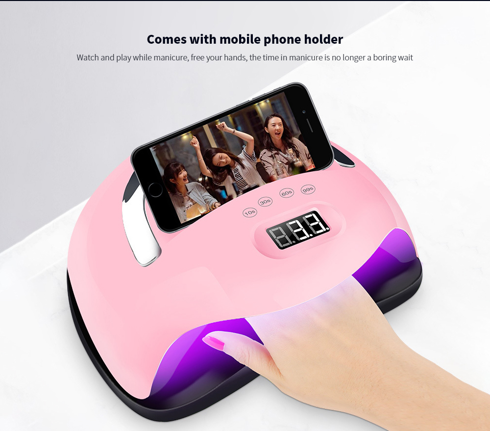 168W UV Portable Nail Dryer Comes with mobile phone holder