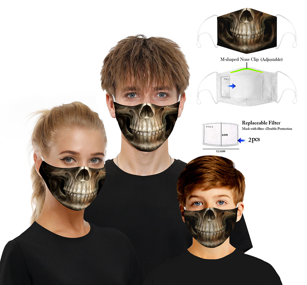 Digital Printing Protective Mask with Filter Chip - Multi BXHB016