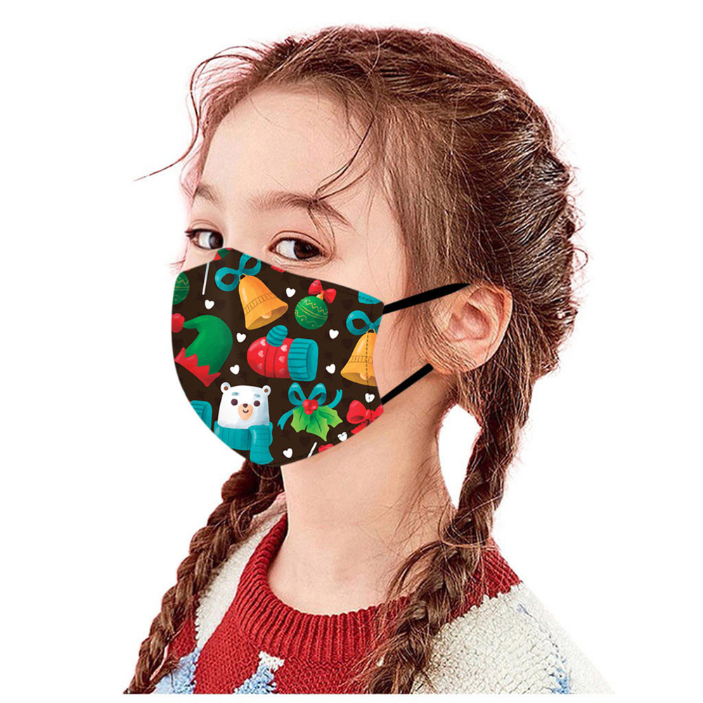Christmas Theme Series Washable Breathable Dustproof Cotton Masks - Multi-B 1pc