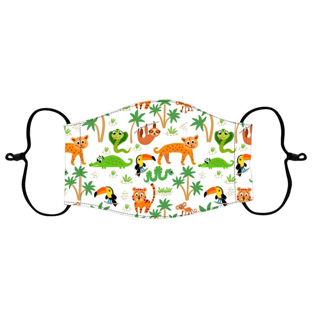 Animals Printed Air Layer Fabric Face Mask - Multi-A 1pc