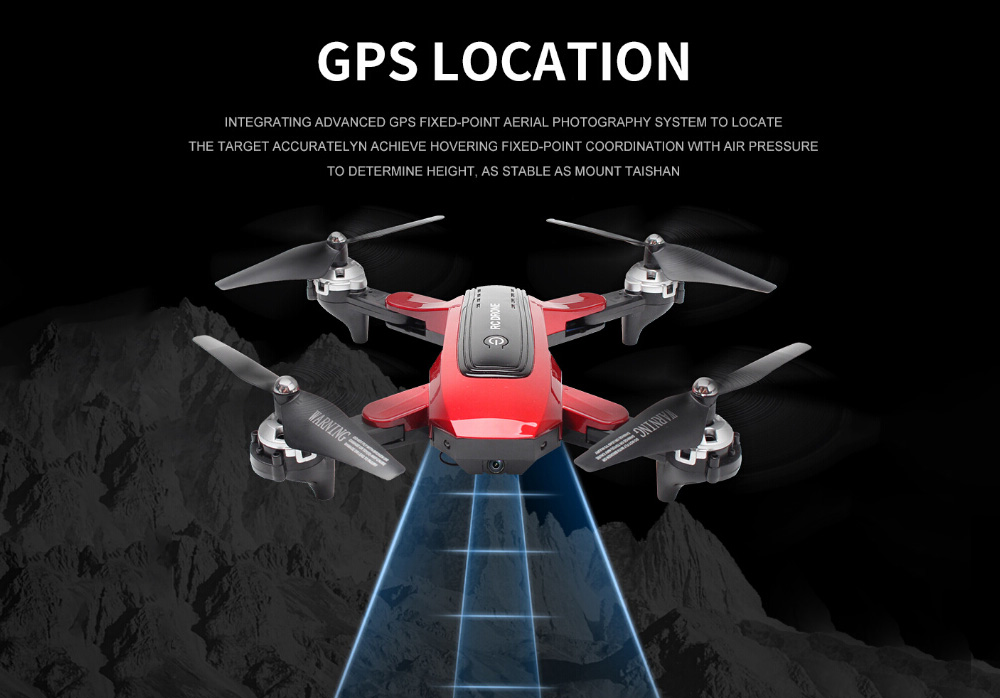 HJ38 GPS 5G HD 4K RC Quadcopter Drone Toy - Black 1080P