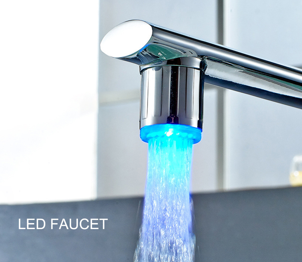 LED Mini Faucet - Silver Single Blue