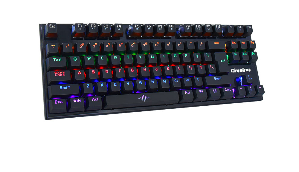 K28 Mechanical Wired Gaming Keyboard Blue Axis Cool Edition USB Interface - Black