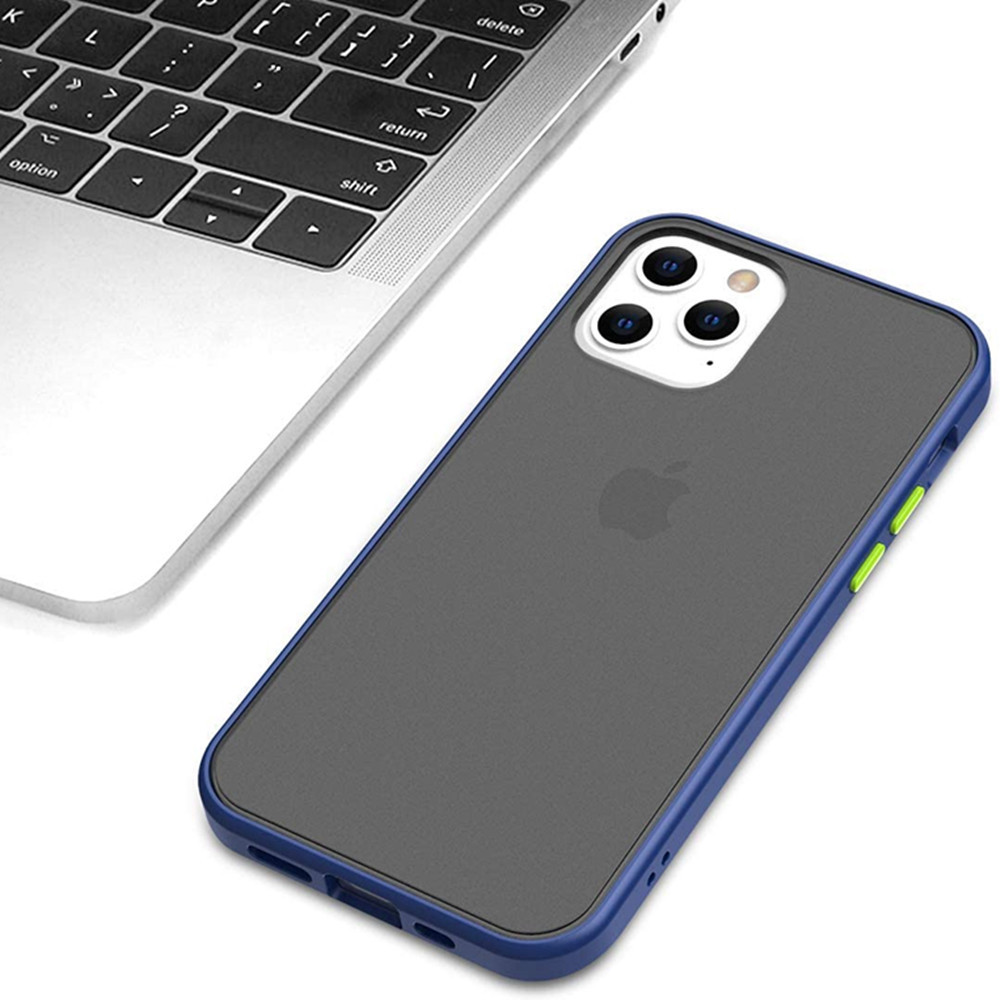 Shockproof Soft Silicone Clear Cover Case iPhone 12 Mini / 12 / 12 Pro Max - Deep Blue 12 Pro Max