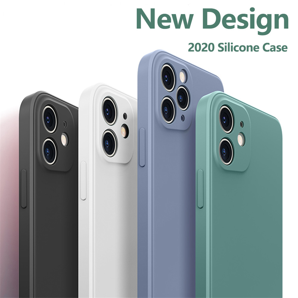 Silicone Soft Cover Case For iPhone 12 Mini / 12 / 12Pro / 12Pro Max - Black 12