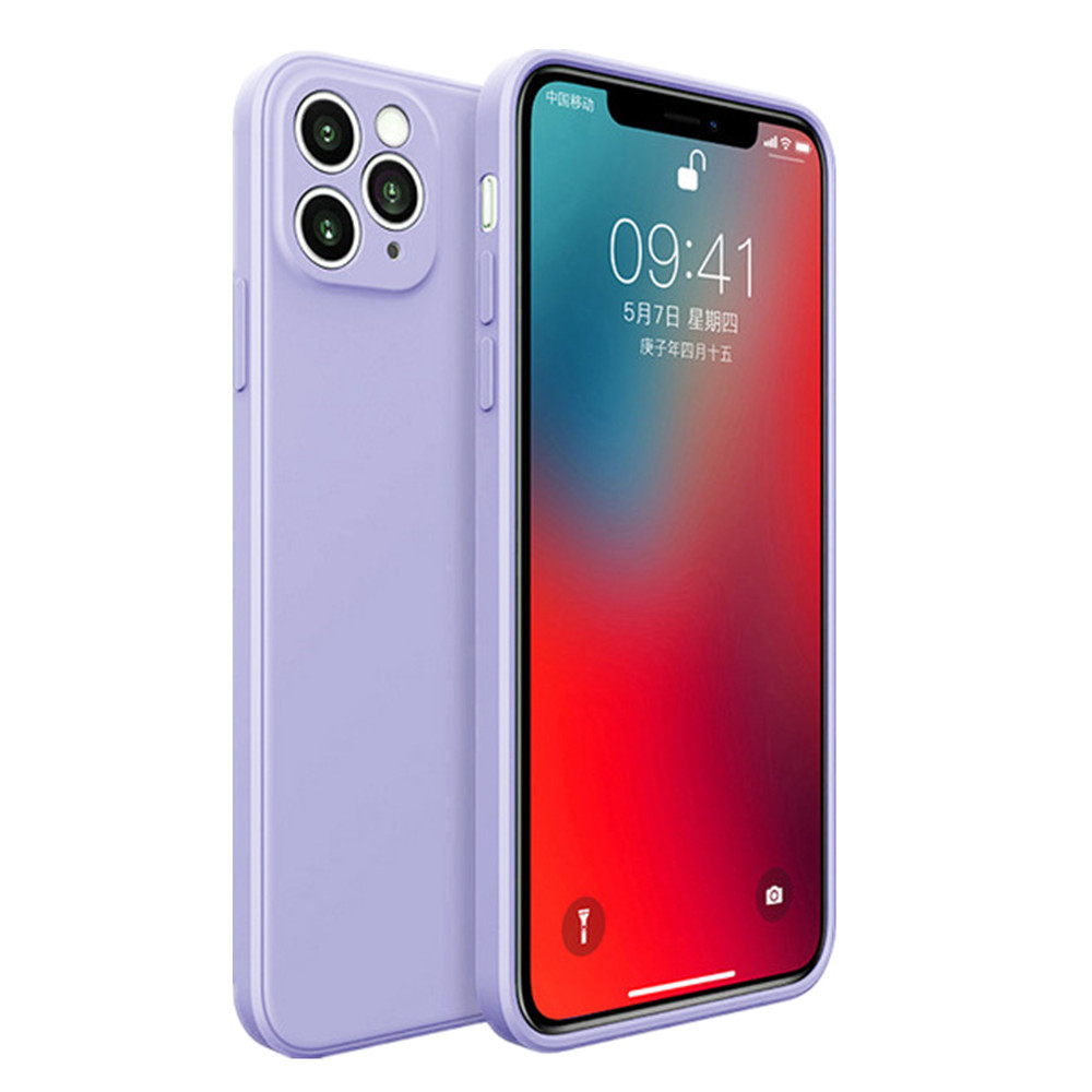 Silicone Soft Cover Case For iPhone 12 Mini / 12 / 12Pro / 12Pro Max - Lilac 12