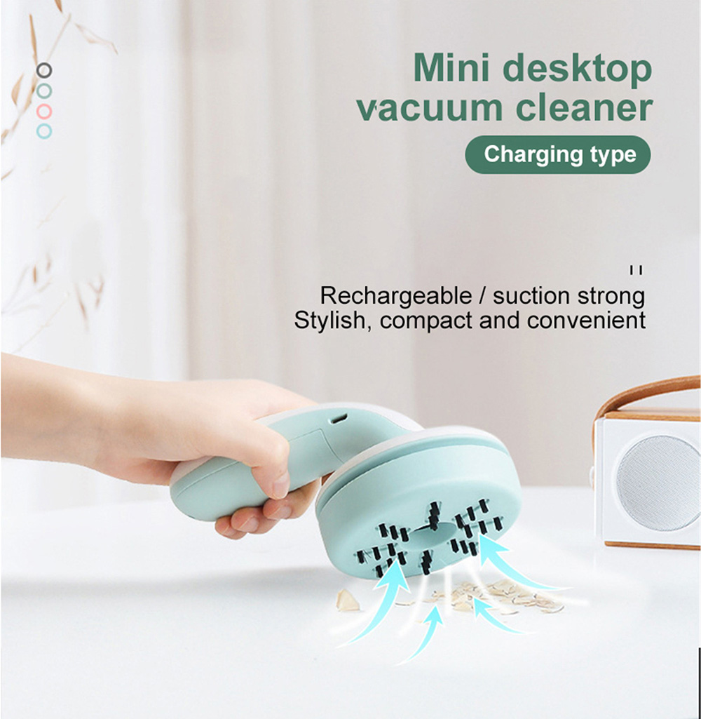 Mini Cartoon Mushroom Vacuum Cleaner - Sakura Pink