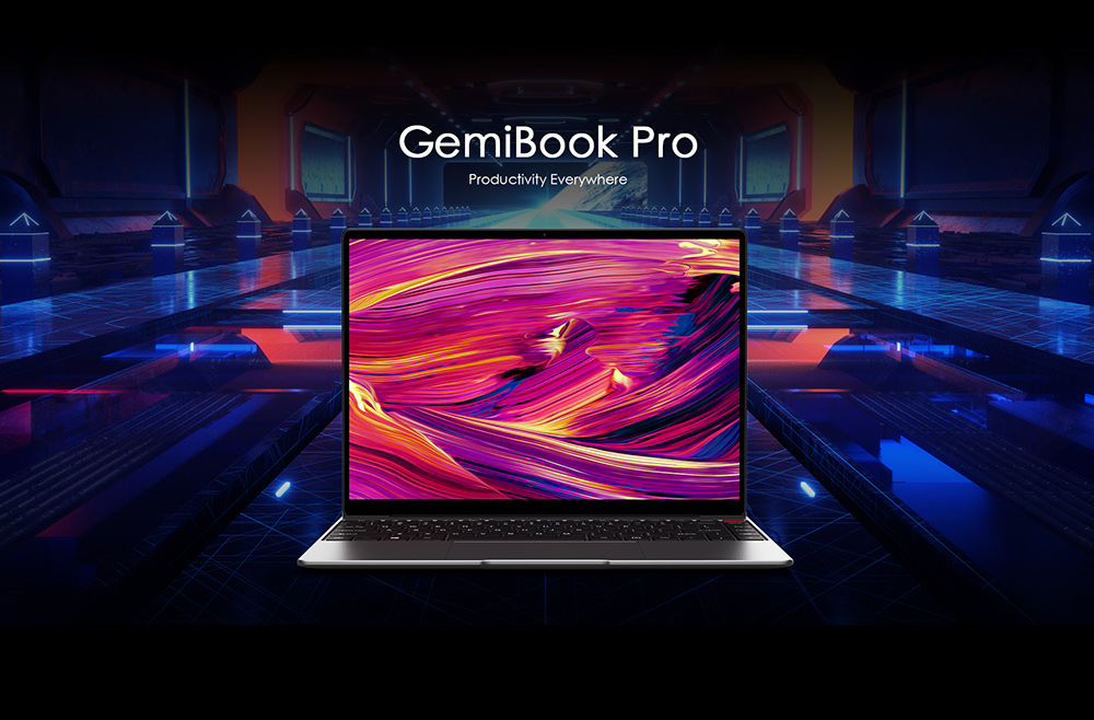 CHUWI GemiBook Pro 14 inch 2K Screen Laptop Windows 10 Computer - Gray