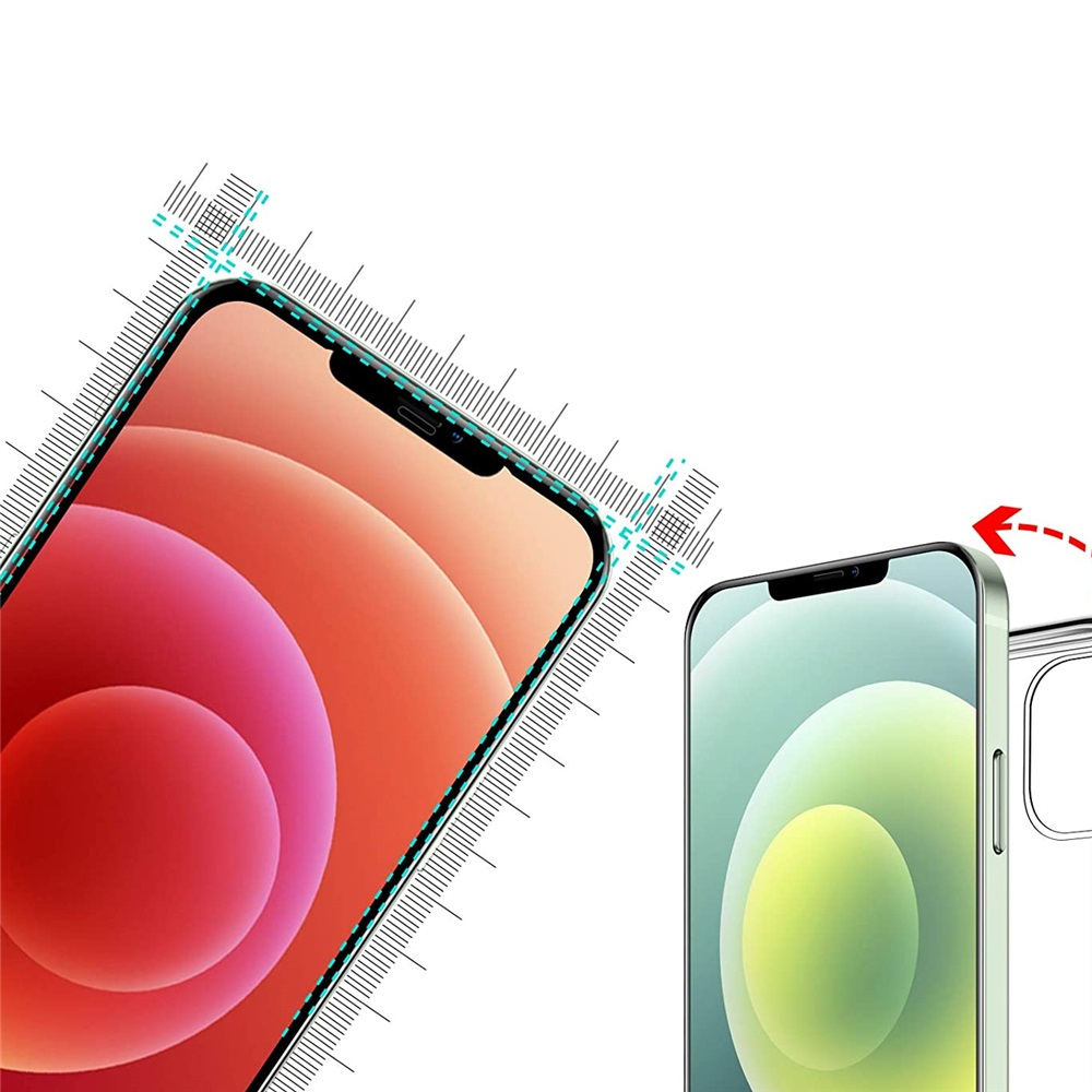 Tempered Glass Screen Protector For iPhone 12 /12 Pro 6.1 Inch 3pcs - Transparent