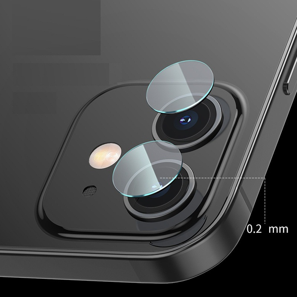 KINSTON 5D Camera Lens Tempered Glass Screen Protector Film for iPhone 12 mini - Transparent