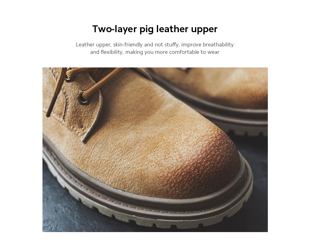 Men Boots Two-layer pig leather upper