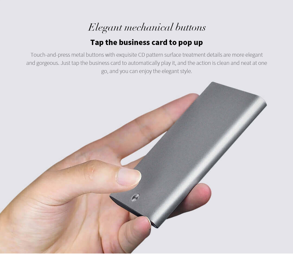 MIIIW MWCH01 Business Card Stock Box Elegant mechanical buttons