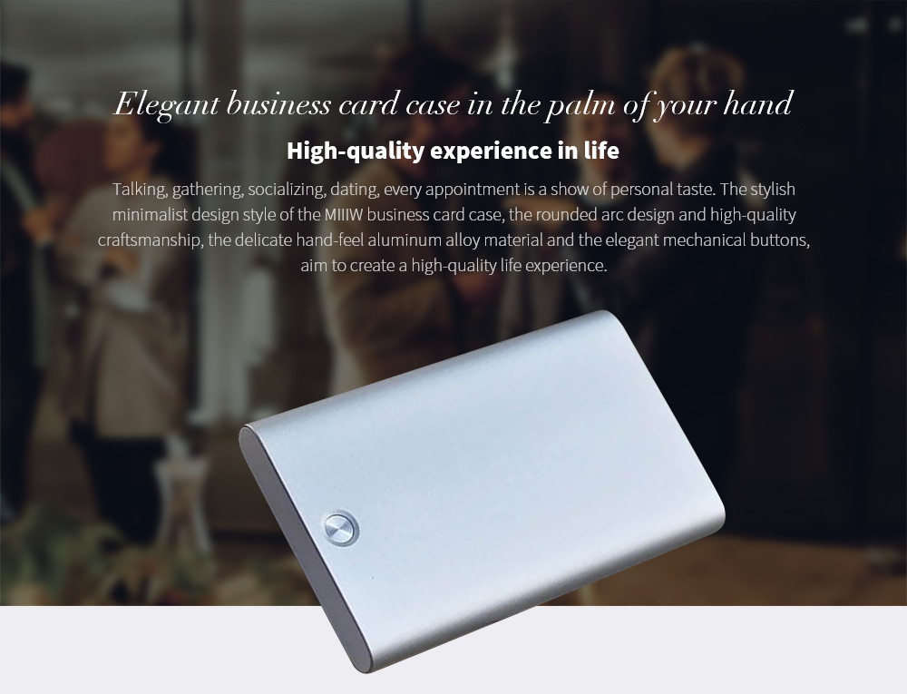 MIIIW MWCH01 Business Card Stock Box High-quality experience in life