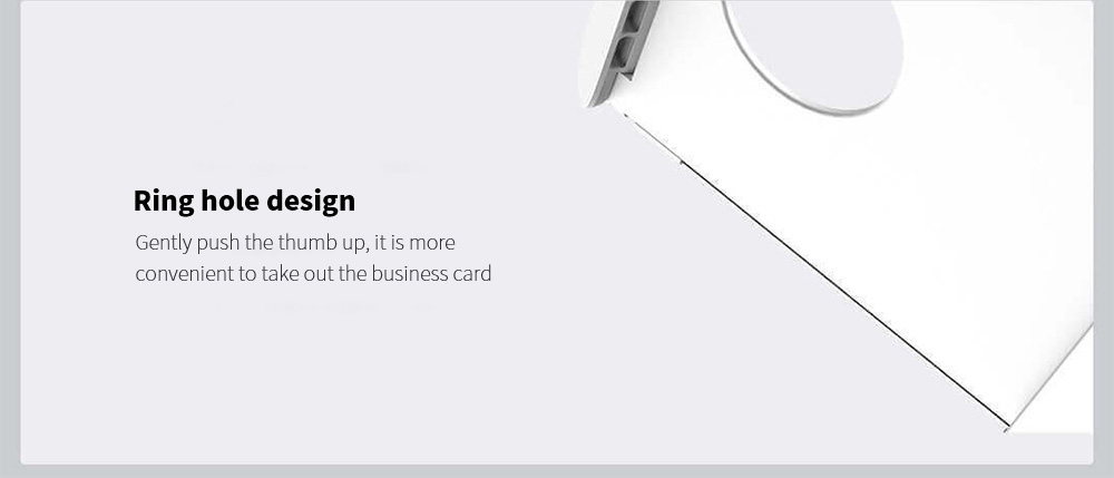 MIIIW MWCH01 Business Card Stock Box Ring hole design