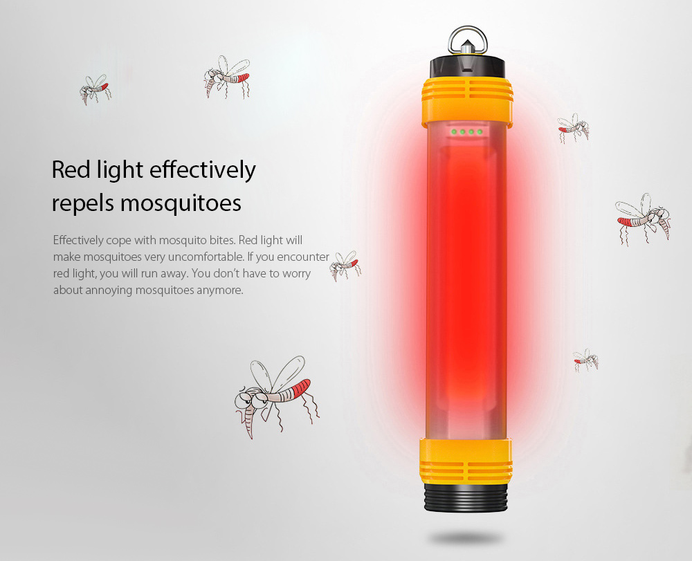 LED Camping Light Red light effectively repels mosquitoes