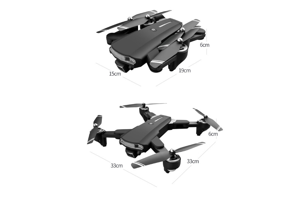 X7GW RC Quadcopter GPS Aerial Drones 4K Dual Camera GPS Positioning Automatic Return Four Axis Aircraft Remote Control - Black 4k