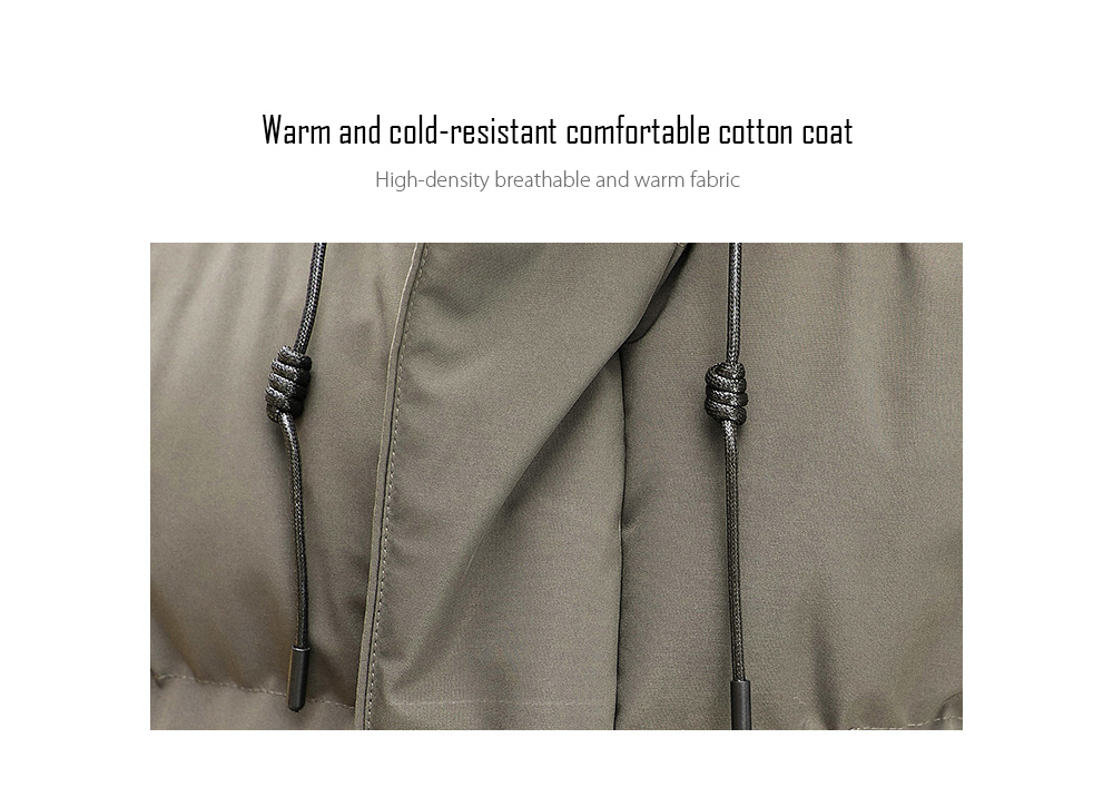 Winter Men's Mid-length Cotton Coat Thicken Warm Couple Large Size Padded Jacket - Black 6XL Warm and cold-resistant comfortable cotton coat