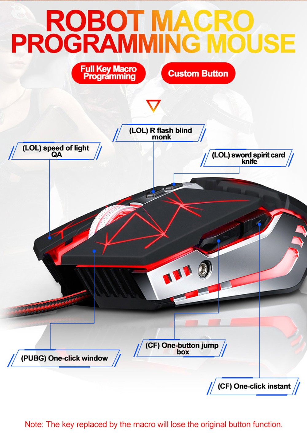 V7 Gaming Mouse - Black STAR BLACK