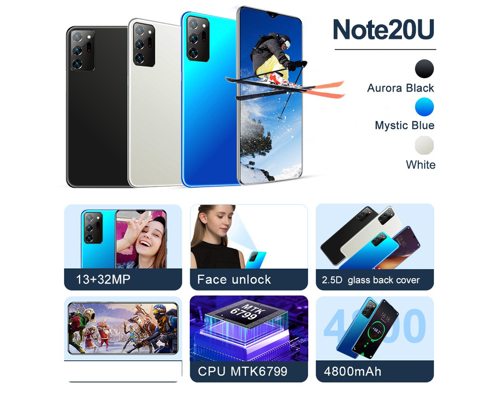 Note20U Smartphone - White UK Plug