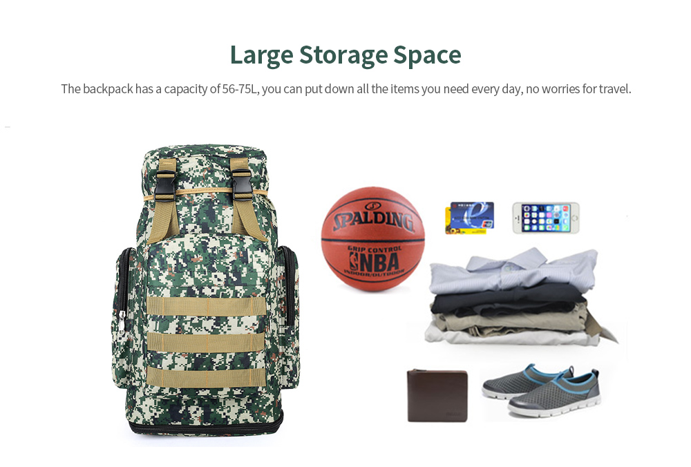 Large Capacity Outdoor Backpack Mountaineering Bag Large Space
