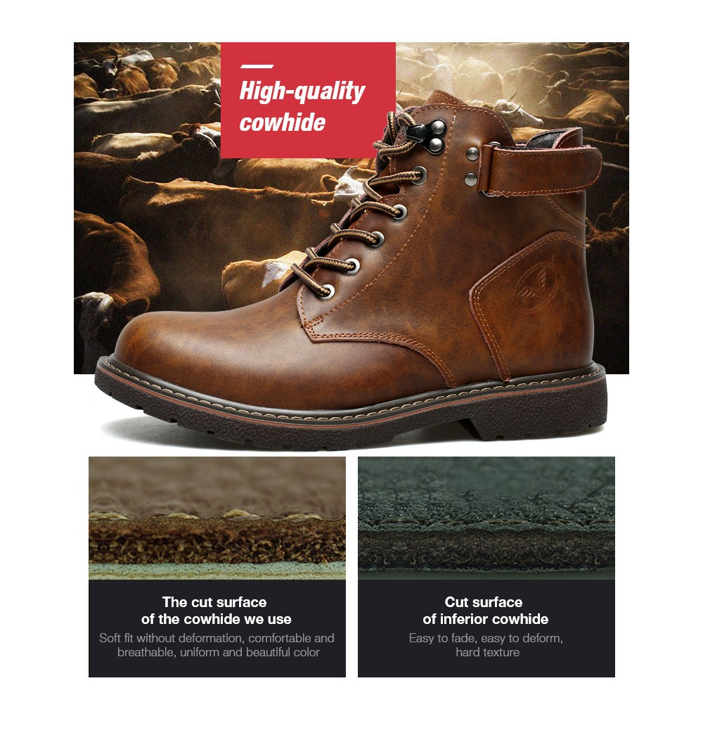 Large Size Men's Shoes High-quality cowhide