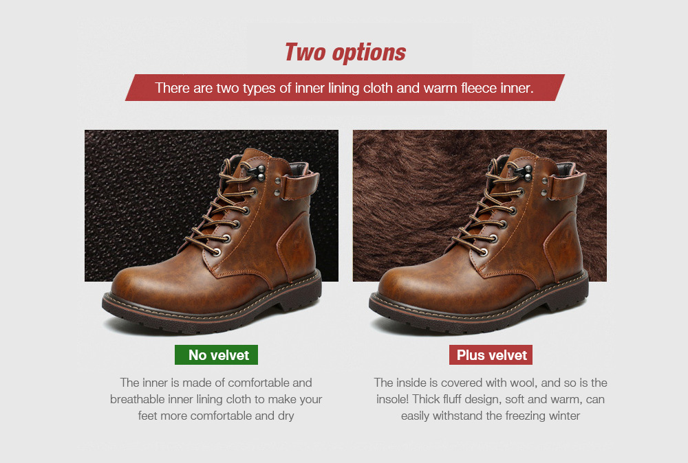 Large Size Men's Shoes two options