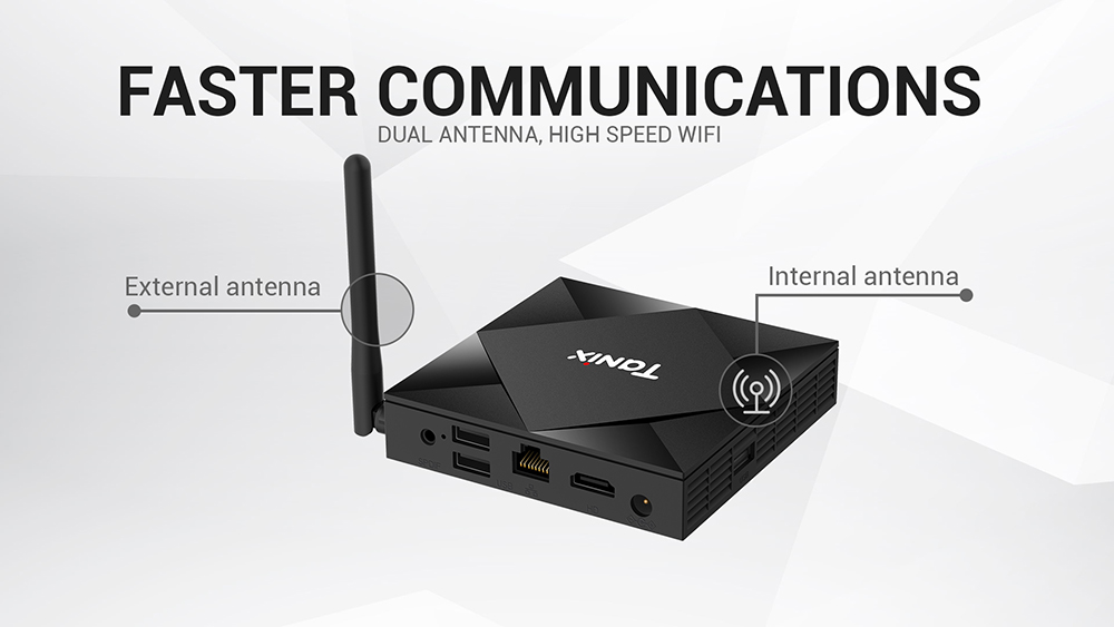 TX6S TV Box - Black 2GB RAM + 8GB ROM  EU Plug