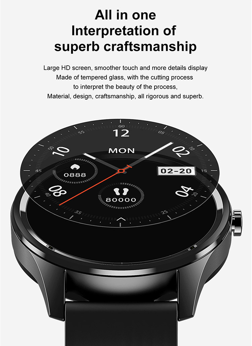 DT55 Smart Watch Intelligent Bracelet Messages Remind Waterproof Heart Rate Blood Pressure Oxygen Calories Pedometer Sports Watch - Orange