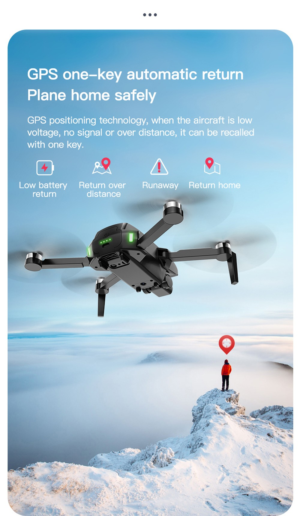 S3 Brushless Gps Aerial Drones HD 4k Folded Dual Camera Remote Control Aircraft - 5g Black 4K Admission Package Version