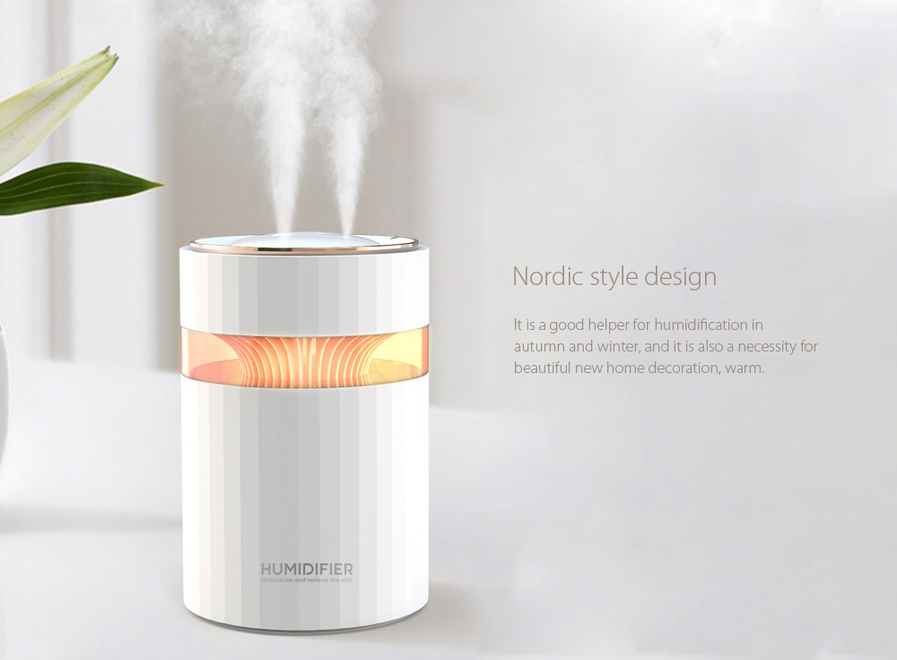 M207 Negative Ion Dual Port Humidifier Nordic style design