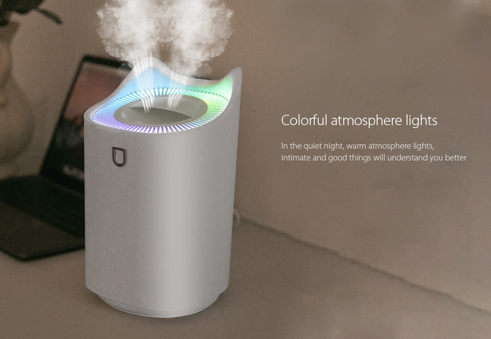 K7 Dual Port Humidifier Colorful atmosphere lights