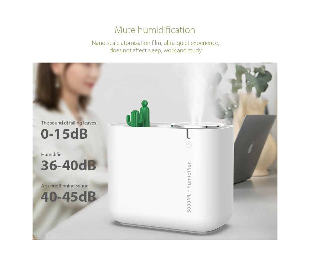 M202+ Negative Ion Double Ports Humidifier Mute humidification