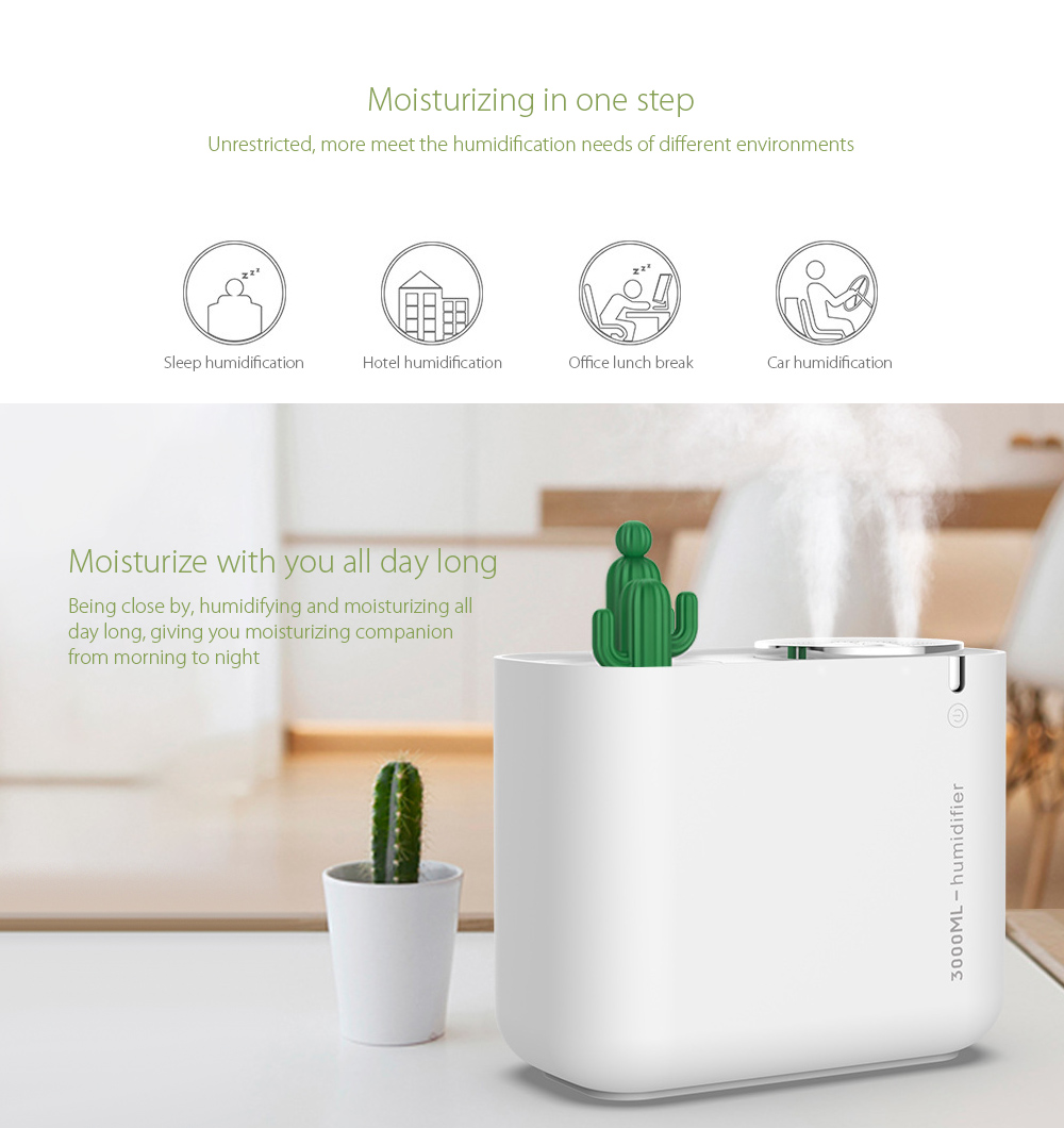 M202+ Negative Ion Double Ports Humidifier Moisturize with you all day long