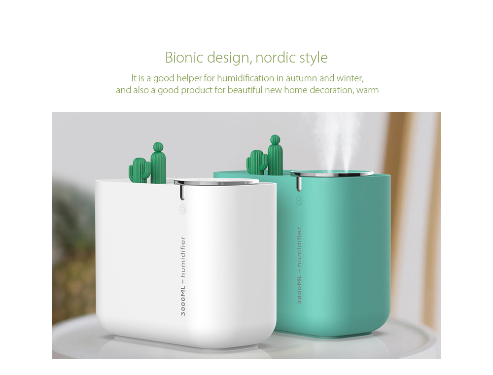 M202+ Negative Ion Double Ports Humidifier Bionic design, nordic style
