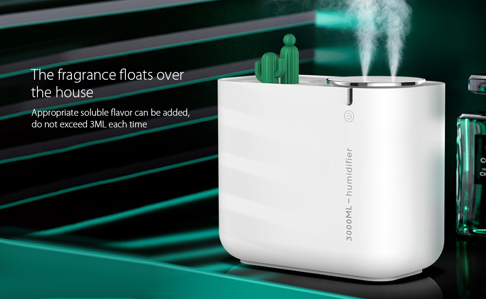 M202+ Negative Ion Double Ports Humidifier The fragrance floats over the house