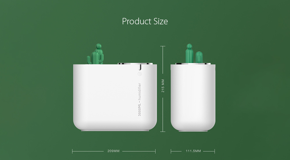M202+ Negative Ion Double Ports Humidifier size