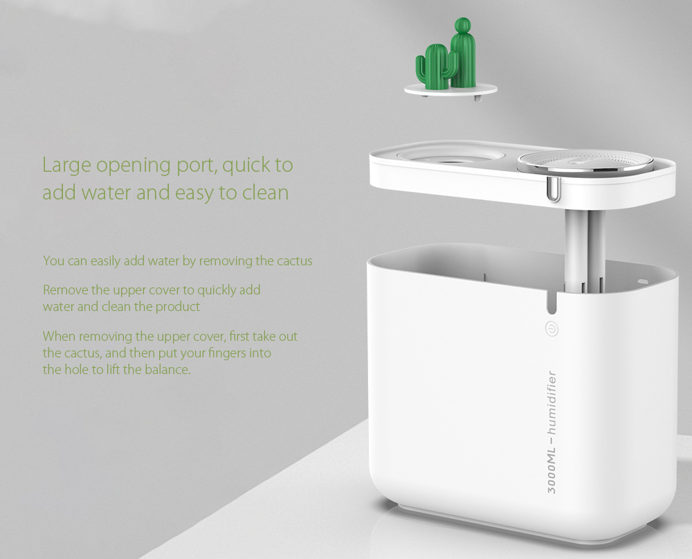 M202+ Negative Ion Double Ports Humidifier Large opening port