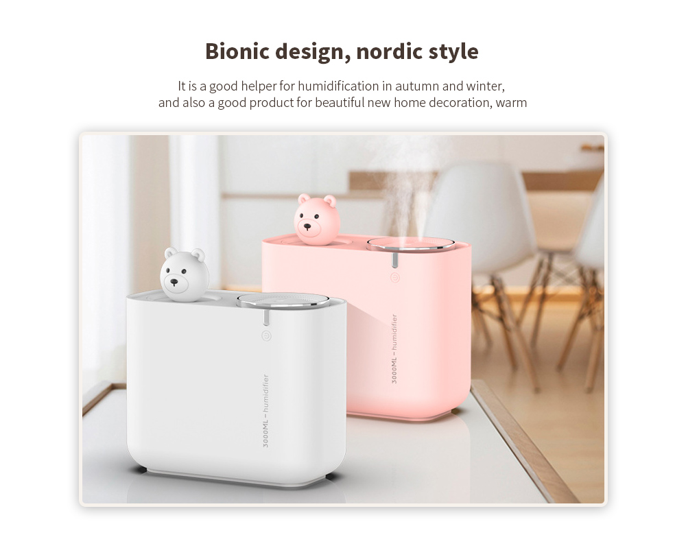 M202 Negative Ion Double Ports Humidifier Bionic design, nordic style