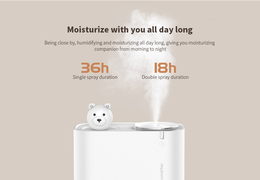 M202 Negative Ion Double Ports Humidifier Moisturize with you all day long