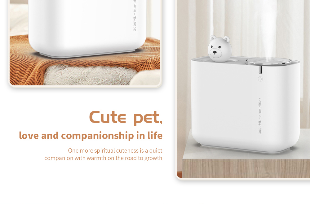M202 Negative Ion Double Ports Humidifier Cute pet, love and companionship in life