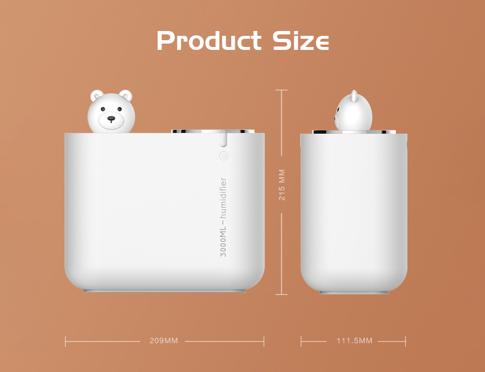 M202 Negative Ion Double Ports Humidifier size