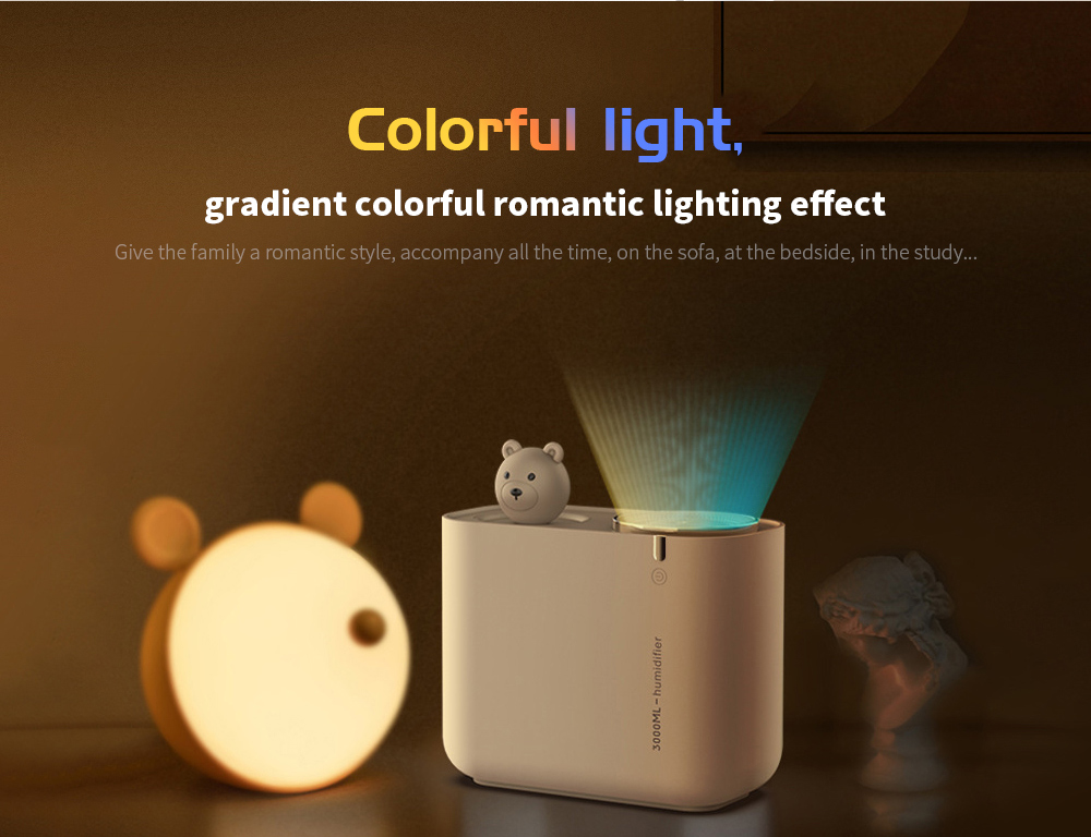 M202 Negative Ion Double Ports Humidifier Colorful light