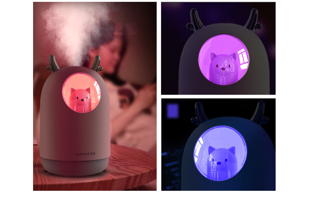Colorful Mini USB Humidifier Nightlight