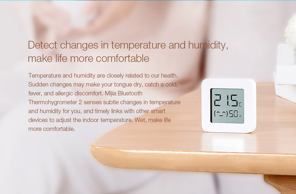 Mijia LYWSD03MMC Bluetooth Hygrometer Detect changes in temperature and humidity