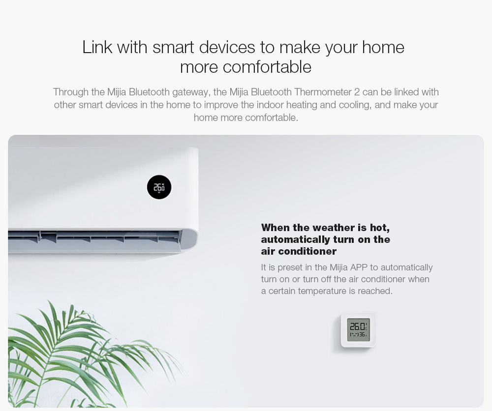 Mijia LYWSD03MMC Bluetooth Hygrometer Link with smart devices to make your home more comfortable