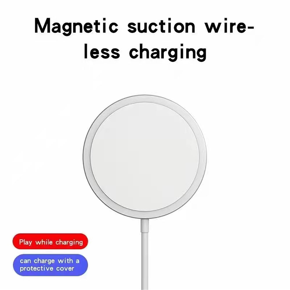 Magnetic Wireless Charge for iPhone 12 Series - White