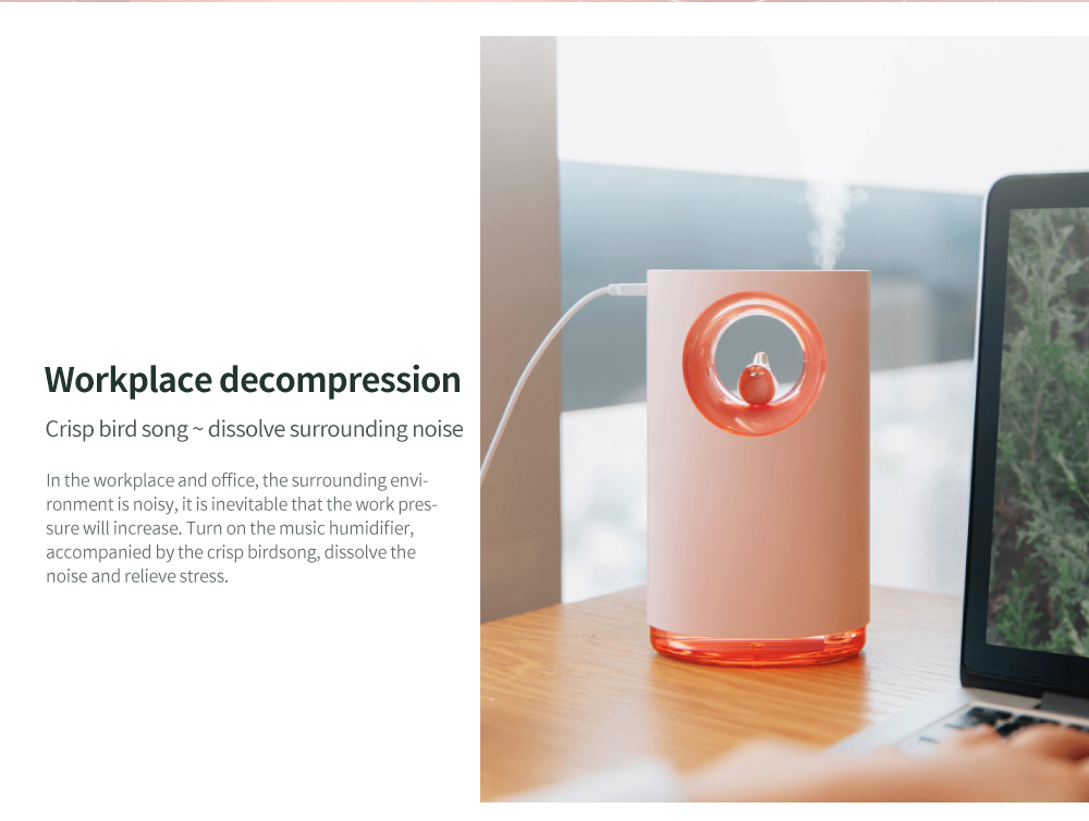 LED Music Humidifier Workplace decompression